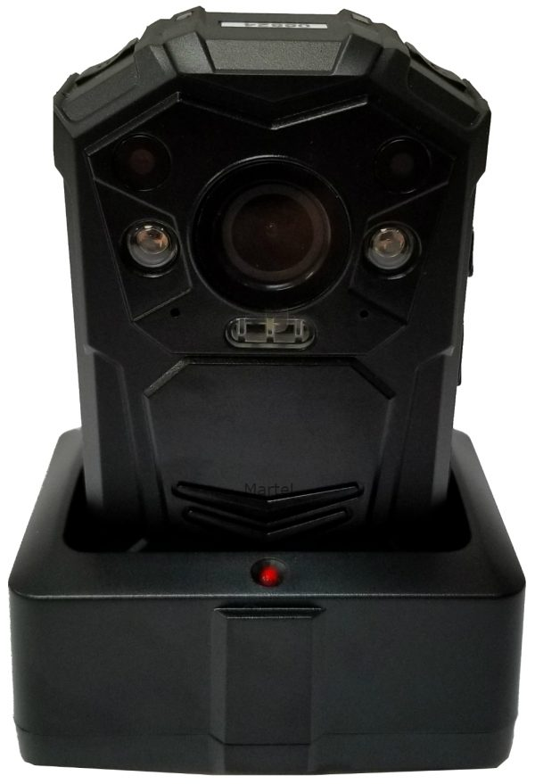 Martel Electronics police body camera - Crime Cam in downloading\charging cradle