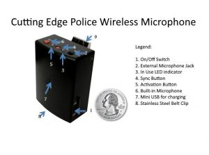 Police Car Camera wireless officer microphone